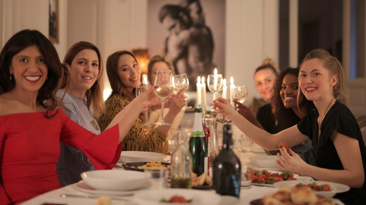Can you lose your social skills - guests at dinner party