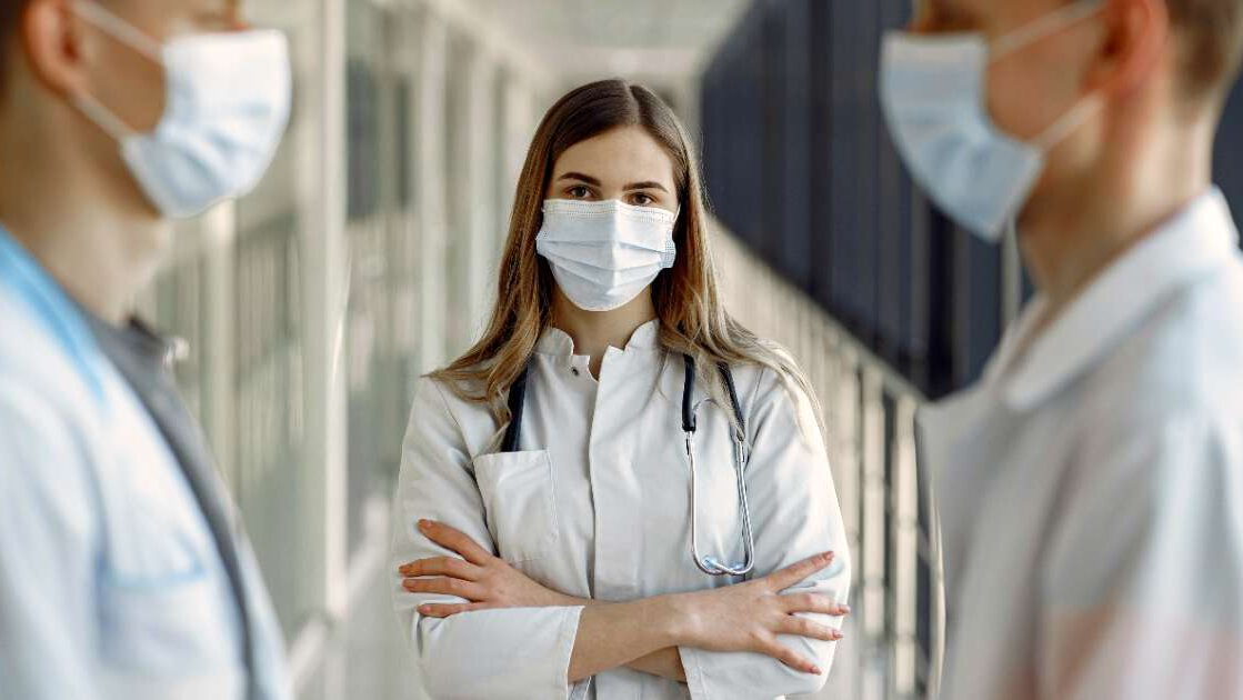 google searches predict pandemic - nurse and doctors wearing a mask