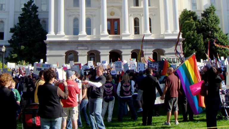 social identity and politics - crowd gathers in DC